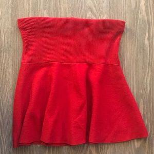 🆕Zara Knit Peplum Strapless Top